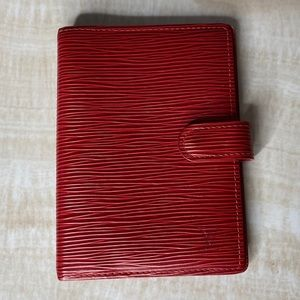 AUTHENTIC LOUIS VUITTON RED EPI LEATHER AGENDA